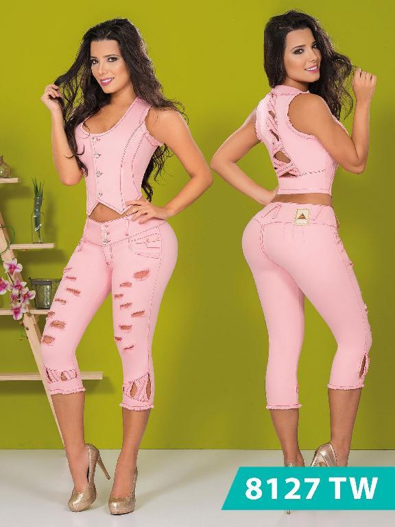 Conjunto Capri Levantacola Colombiano Top Women  - Ref. 123 -8127 TW