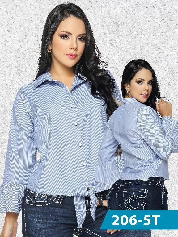 Blusas Moda Colombiana Tabbachi Azul  - Ref. 236 -206-5 Azul