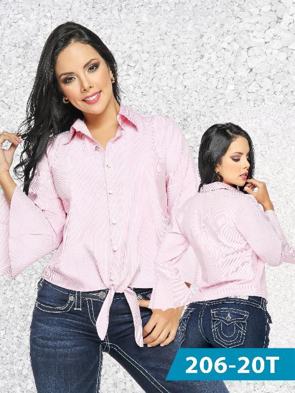 Blusa Moda Colombiana Tabbachi Rosada  - Ref. 236 -206-20 Rosada