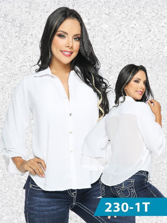 Blusa Moda Tabbachi Blanco - Ref. 236 -230-1 Blanco