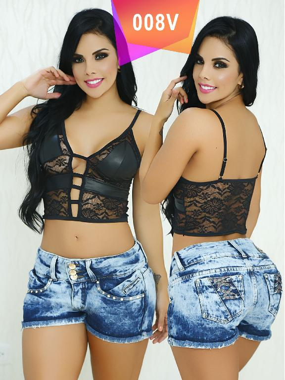 Short Levantacola Colombiano Valery Boutique  - Ref. 126 -008V