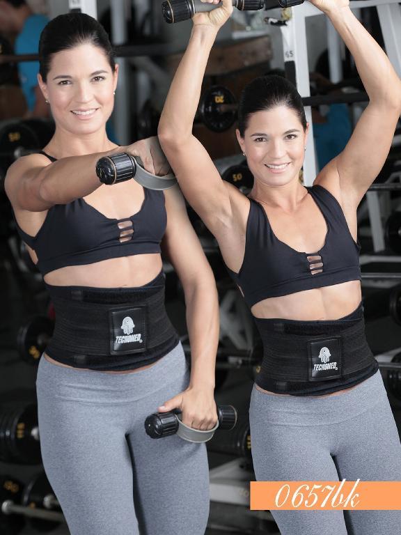 Waist Cincher fitness - Ref. 119 -0657 NEGRA