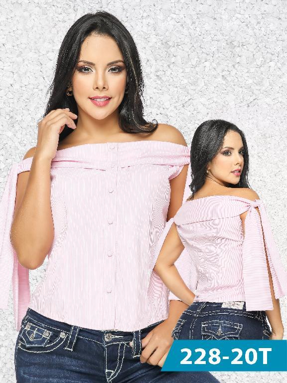 Blusa Moda Tabbachi Rosada  - Ref. 236 -228-20 Rosada