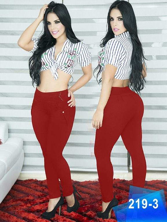 Pantalon Casual Comfort Thaxx - Ref. 119 -219-3 Rojo