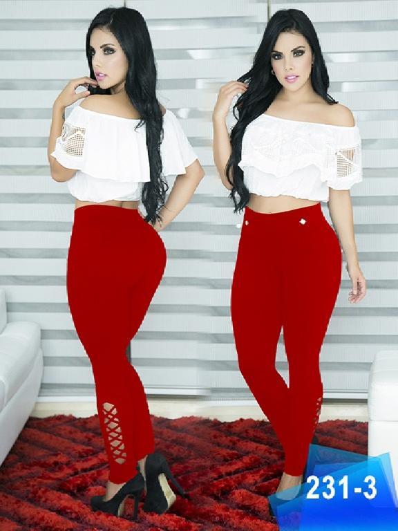 Pantalon Casual Comfort Thaxx - Ref. 119 -231 3 Rojo