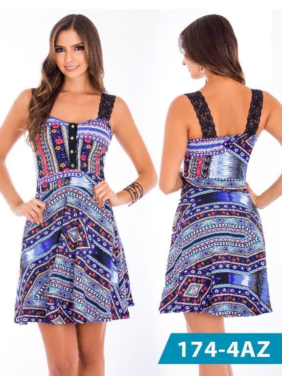 Vestido Moda Colombiana Azulle - Ref. 245 -1744