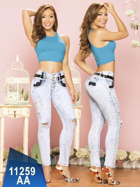 Jeans Levantacola Colombiano Studio AA - Ref. 235 -11259 AA