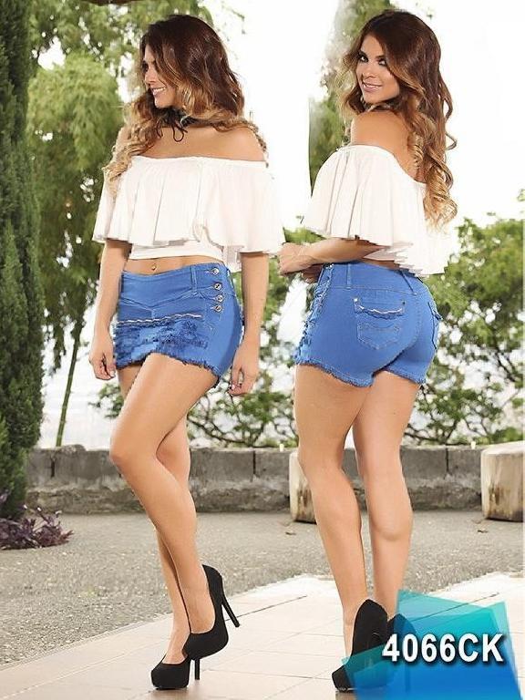 Falda Short Levantacola Colombiana Cokette - Ref. 119 -4066 CK