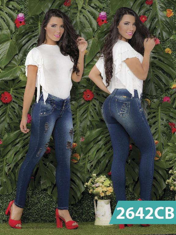 Colombian Butt Lifting Jeans Blue Capellini Boutique  - Ref. 106 -2642 CB
