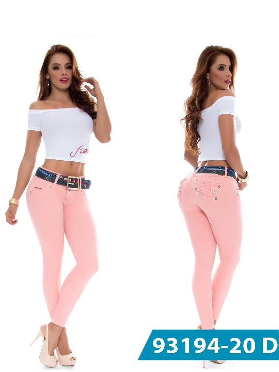 Jeans Levantacola Colombiano DO Jeans - Ref. 248 -93194-20 D Rosado