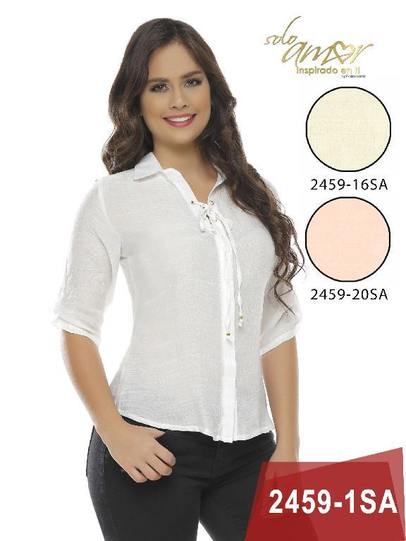 Blusa Moda Colombiana Solo Amor - Ref. 246 -2459-16 Beige