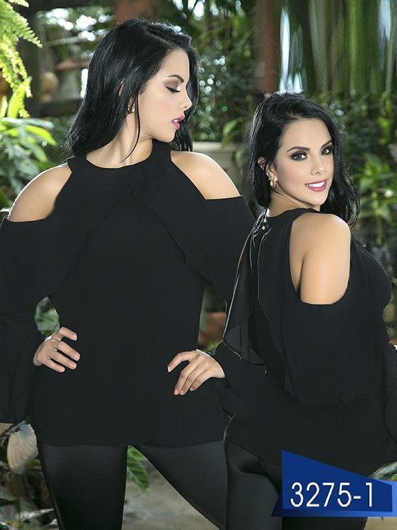 Blusa Moda Colombiana Thaxx  - Ref. 119 -3275-1 Negro