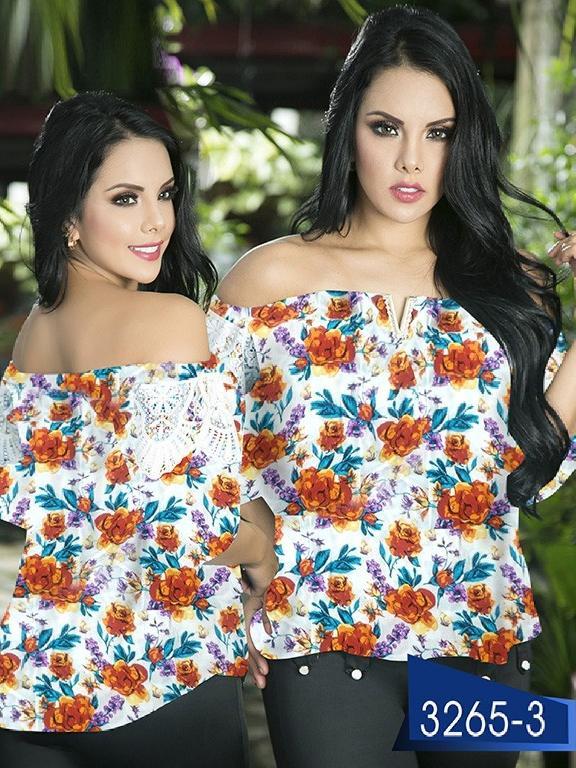 Blusa Moda Colombiana Thaxx  - Ref. 119 -3265-3 Naranja