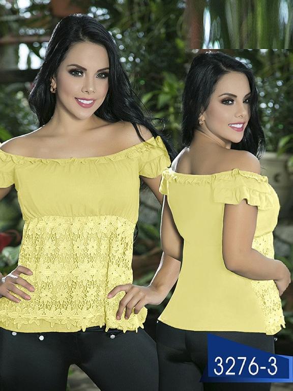 Blusa Moda Colombiana Thaxx  - Ref. 119 -3276-3 Amarillo