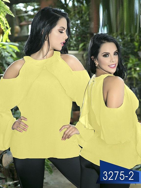 Blusa Moda Colombiana Thaxx  - Ref. 119 -3275-2 Amarillo