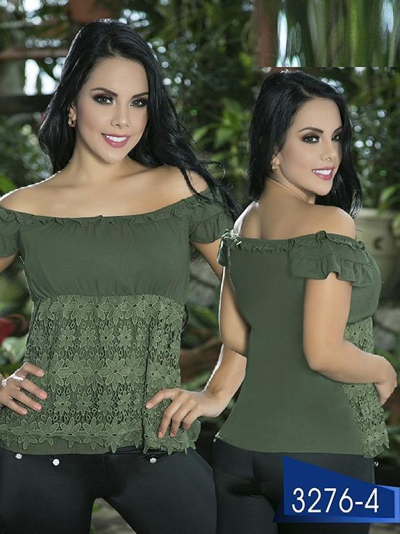 Blusa Moda Colombiana Thaxx  - Ref. 119 -3276-4 Verde