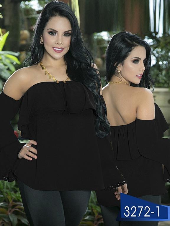 Blusa Moda Colombiana Thaxx  - Ref. 119 -3272-1 Negro
