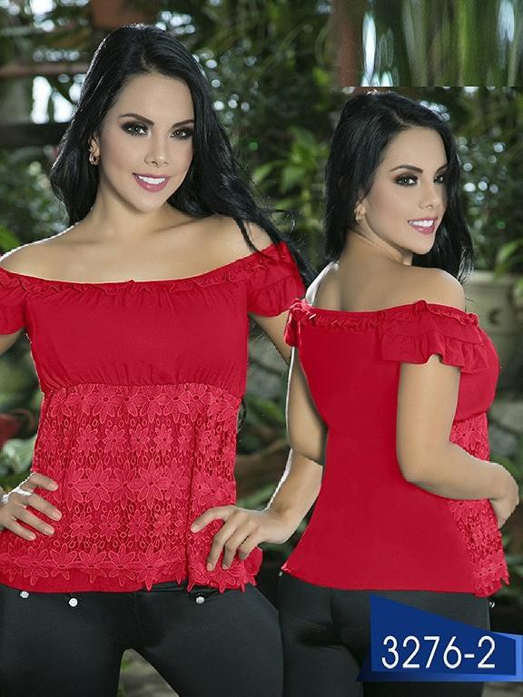 Blusa Moda Colombiana Thaxx  - Ref. 119 -3276-2 Rojo