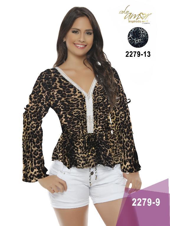 Blusa Moda Colombiana Solo Amor - Ref. 246 -2279 13 Gris