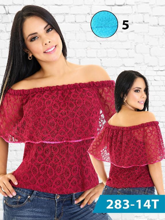 Blusa Moda Colombiana Tabbachi  - Ref. 236 -283-5 Azul