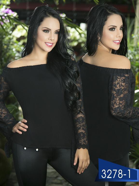 Blusa Moda Colombiana Thaxx  - Ref. 119 -3278-1 Negro