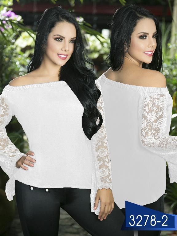 Blusa Moda Colombiana Thaxx  - Ref. 119 -3278-2 Blanco