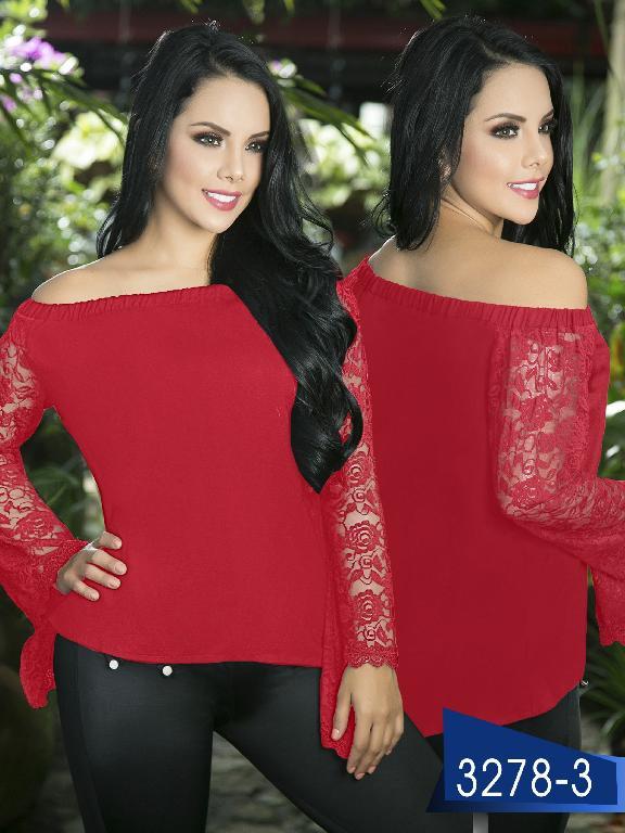 Blusa Moda Colombiana Thaxx  - Ref. 119 -3278-3 Rojo