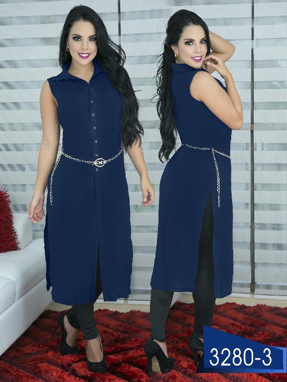Blusa Moda Colombiana Thaxx  - Ref. 119 -3280-3 Azul