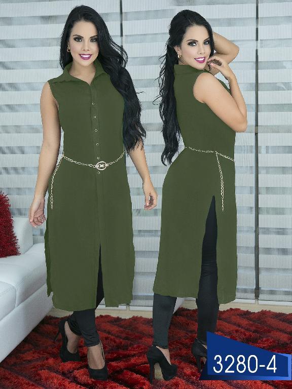Blusa Moda Colombiana Thaxx  - Ref. 119 -3280-4 Verde