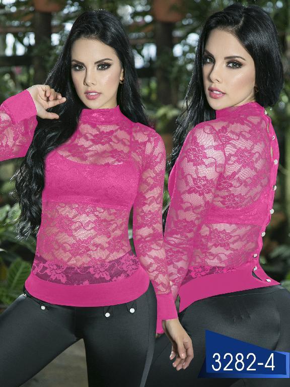 Blusa Moda Colombiana Thaxx  - Ref. 119 -3282-4 Fucsia
