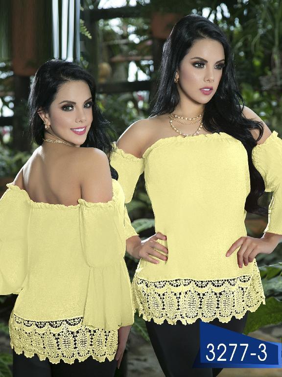 Blusa Moda Colombiana Thaxx  - Ref. 119 -3277-3 Amarillo