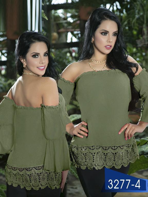 Blusa Moda Colombiana Thaxx  - Ref. 119 -3277-4 Verde