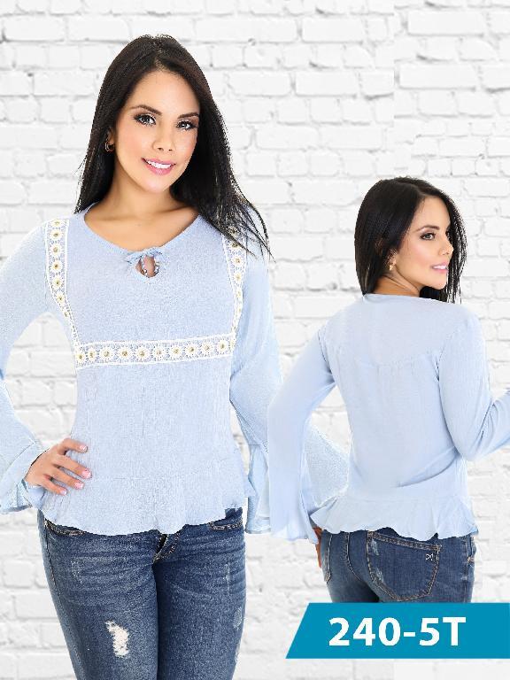 Blusa Moda Colombiana Tabbachi  - Ref. 236 -240-5 Azul