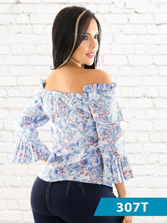 Blusa Moda Colombiana Tabbachi - Ref. 236 -307-5 Azul