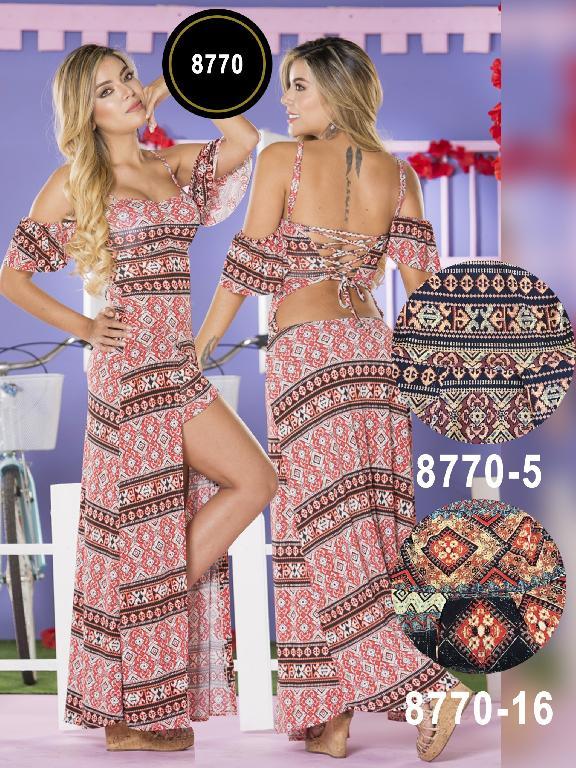 Vestido Moda Colombiano Yes Brazil  - Ref. 113 -8770-5 Azul