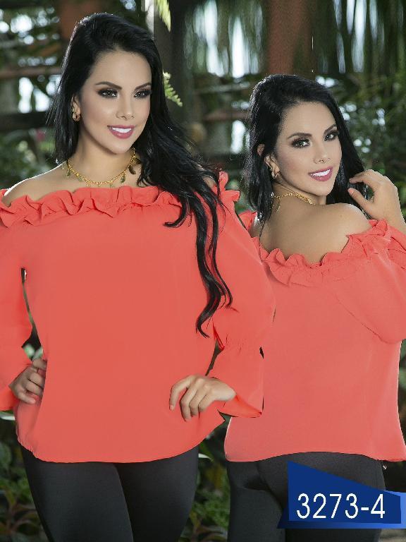 Blusa Moda Colombiana Thaxx  - Ref. 119 -3273-4 Coral