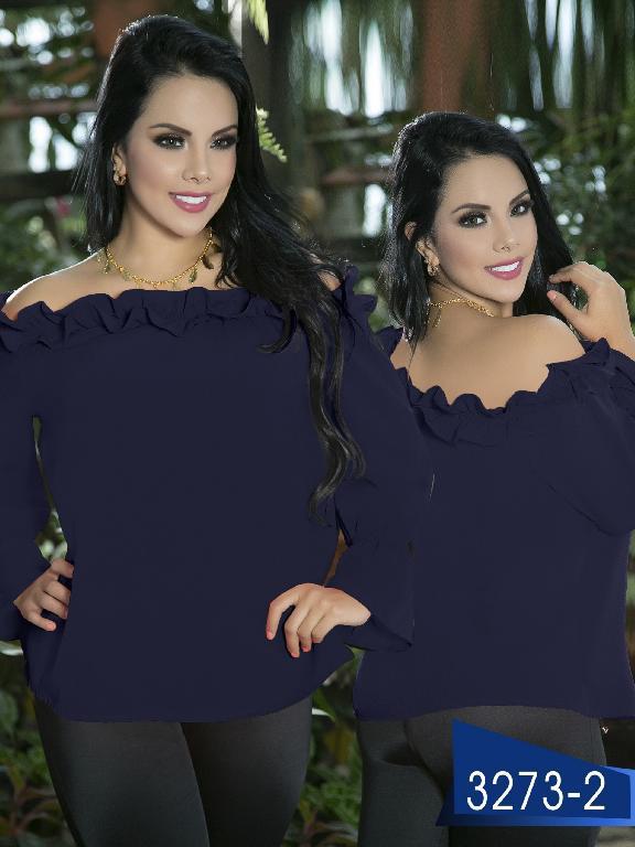 Blusa Moda Colombiana Thaxx  - Ref. 119 -3273-2 Azul