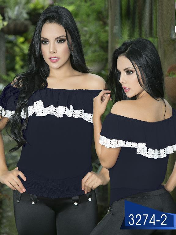 Blusa Moda Colombiana Thaxx  - Ref. 119 -3274-2 Roja