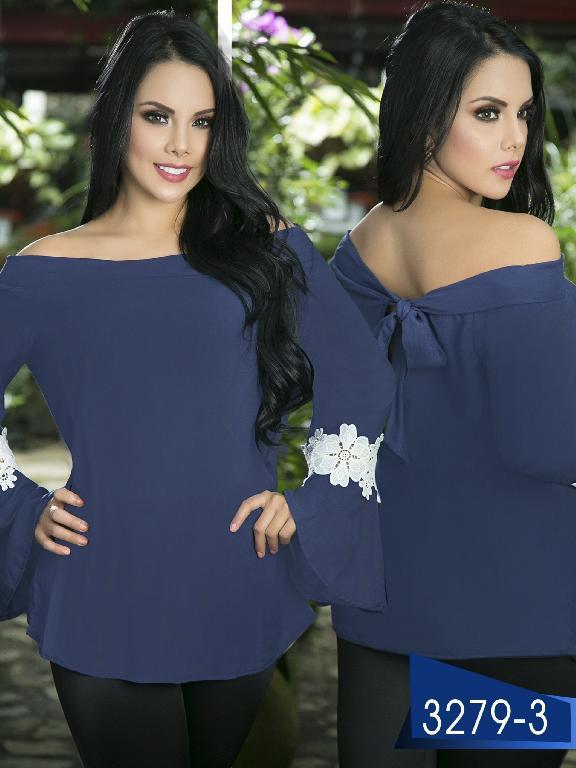 Blusa Moda Colombiana Thaxx  - Ref. 119 -3279-3 Azul