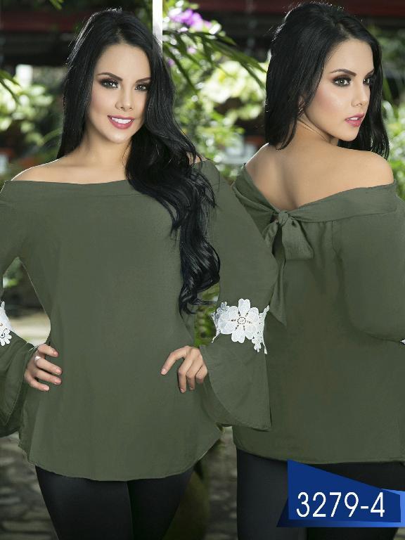 Blusa Moda Colombiana Thaxx  - Ref. 119 -3279-4 Verde