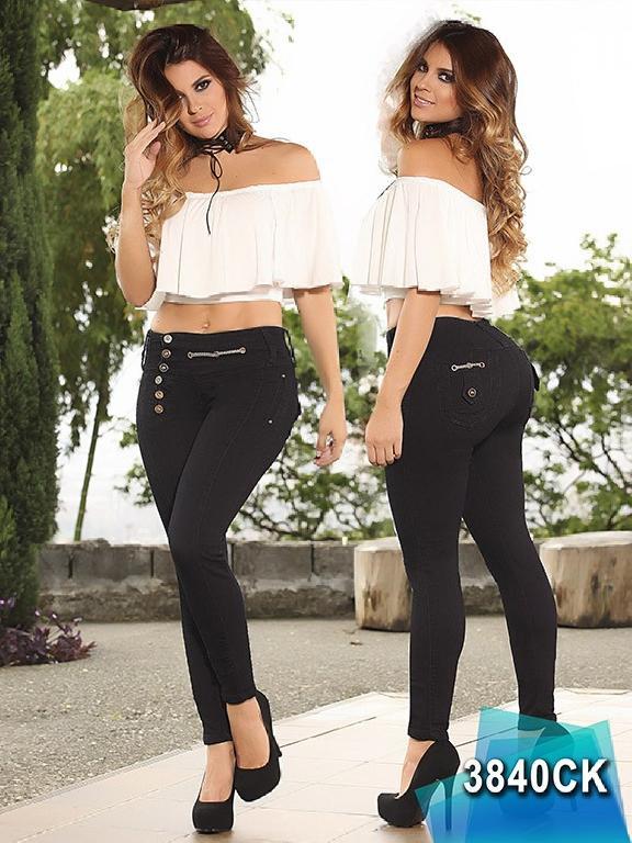 Jeans Dama Levantacola Colombiano Cokette - Ref. 119 -3840 CK