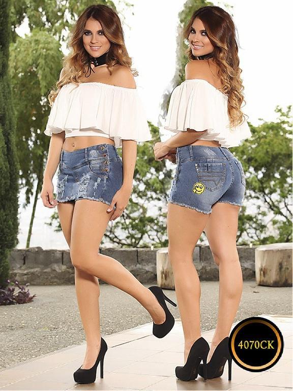 Falda Short Levantacola Colombiana Cokette - Ref. 119 -4070 CK