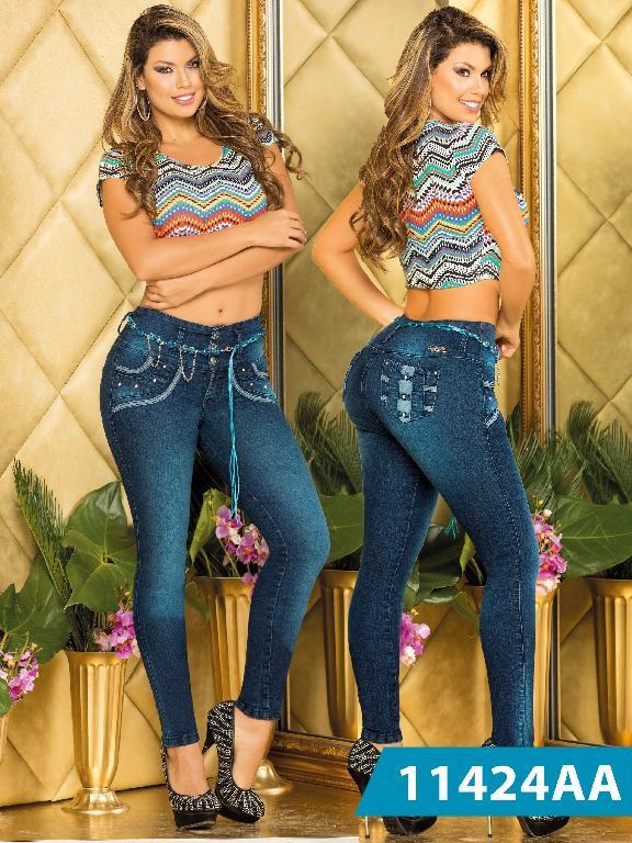 Jeans Levantacola Colombiano Studio AA - Ref. 235 -11424 AA