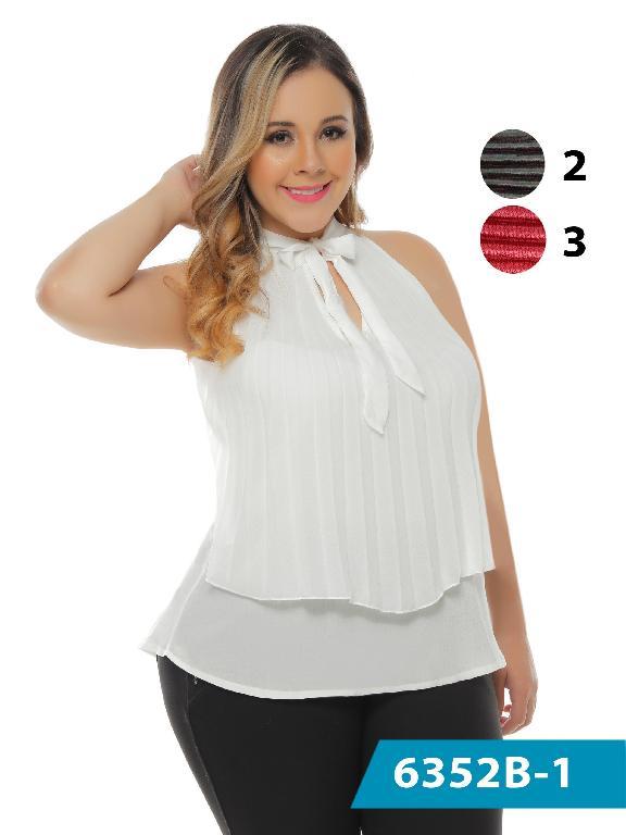 Blusa Moda Colombiana Bambu - Ref. 250 -6352-2 Negro