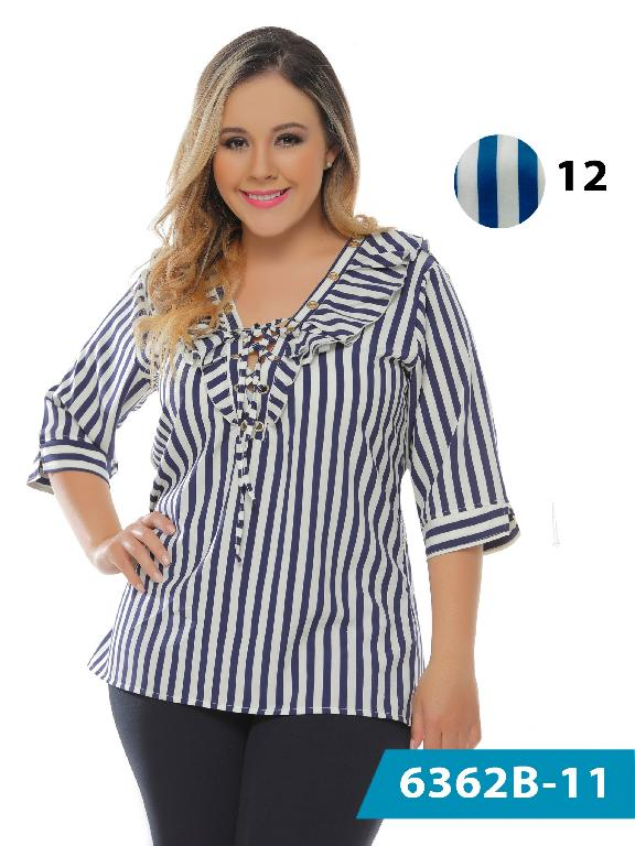 Blusa Moda Colombiana Bambu - Ref. 250 -6362-12 Azul Claro