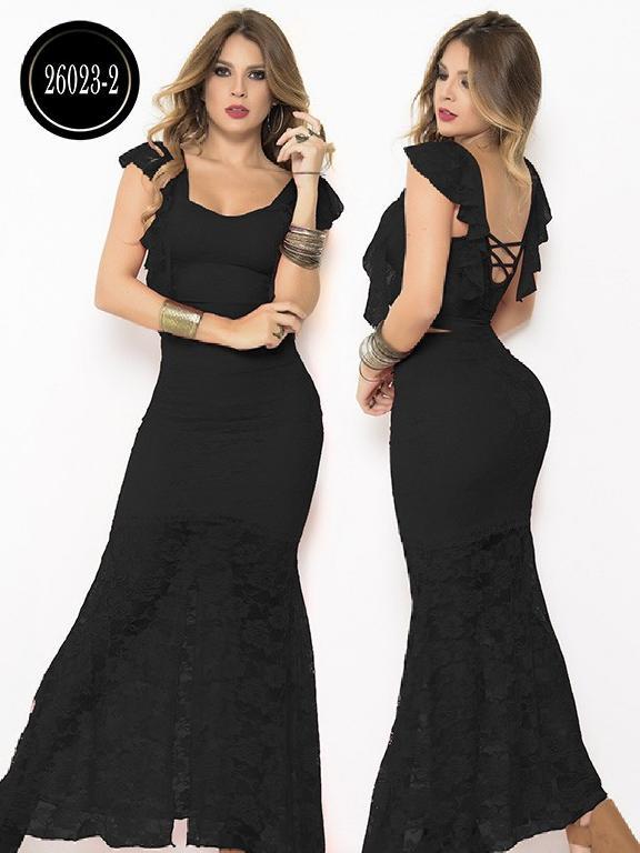 Vestido Moda Colombiana Cereza - Ref. 111 -26023-2 Negro