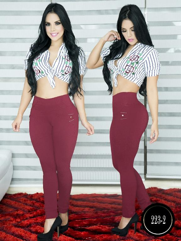 Pantalon Casual Comfort Thaxx - Ref. 119 -223-2 Vinotinto