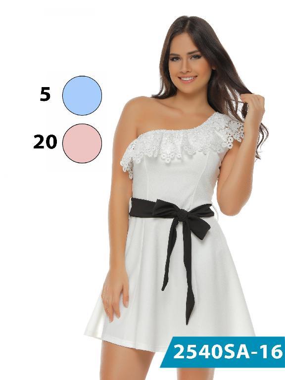 Vestido Moda Colombiana Solo Amor - Ref. 246 -2540-5 Azul