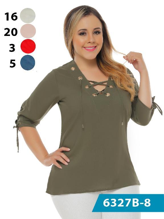 Blusa Moda Colombiana Bambu - Ref. 250 -6327-3 Rojo