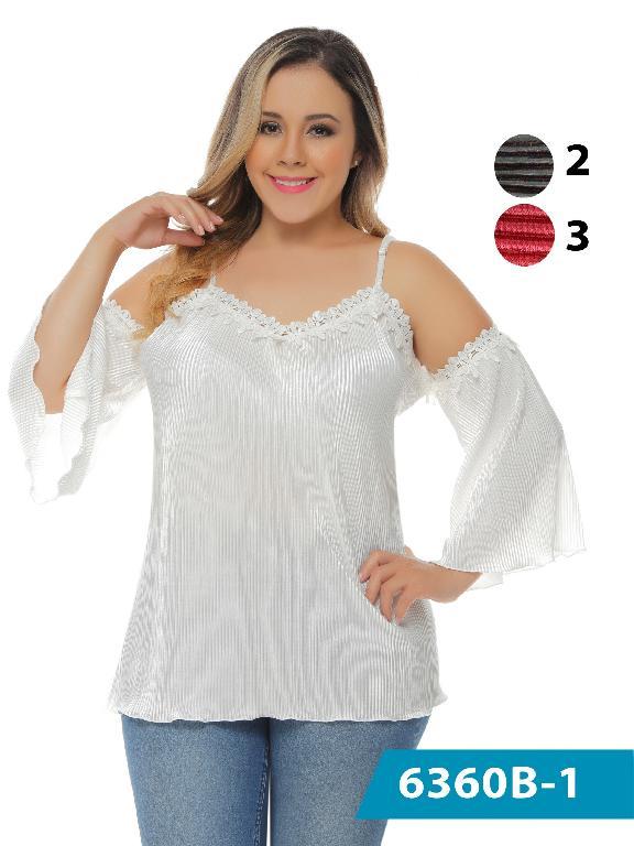 Blusa Moda Colombiana Bambu - Ref. 250 -6360-3 Rojo